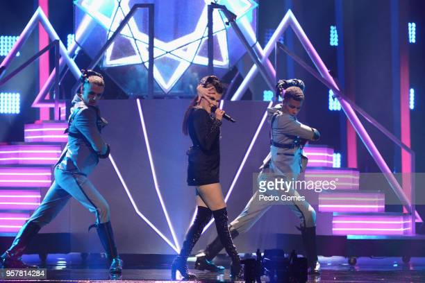 Saara Aalto representing Finland performs at Altice Arena on May 12 2018 in Lisbon Portugal