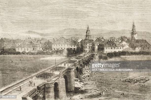 Saarbruck where prince Louis Napoleon received his baptism of fire August 2 illustration from the magazine The Graphic volume XIX no 500 June 28 1879
