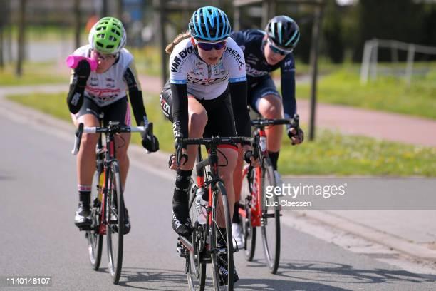 Saartje Vandenbroucke Belgium and Team DoltciniVan Eyck Sport / Kseniia Dobrynina of Rusia and Team ServettoPiumateBeltrami TSA / Nathalie Bex of...