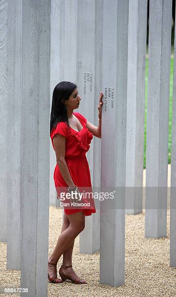 Saba Mozakka 28 the daughter of Behmaz Mozakka who died at Kings Cross on July 7 2005 walks around a new permanent memorial to honour the victims of...