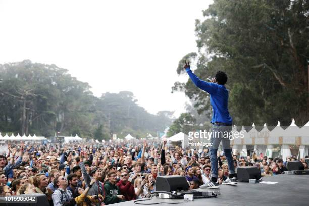 Saba performs on the Panhandle Stage during the 2018 Outside Lands Music And Arts Festival at Golden Gate Park on August 12 2018 in San Francisco...