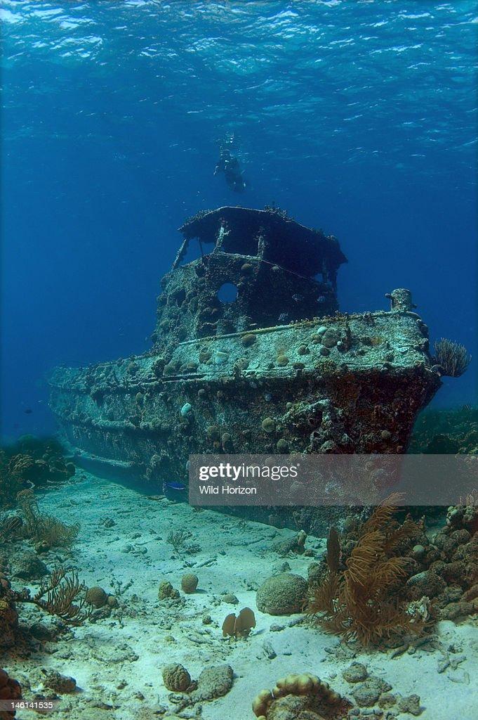 Saba Tugboat, Artificial Reef Site, Saba Artificial Reef