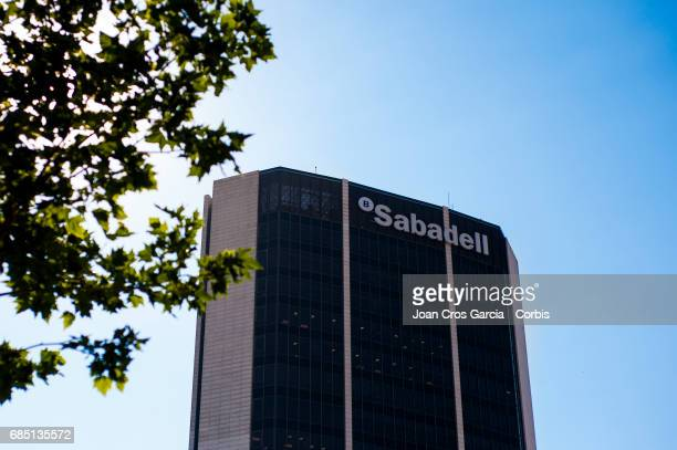 Sabadell Bank building office on May 17 2017 in Barcelona Spain 'n'n