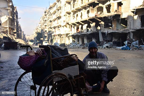 Sabah Muhammed whose 7 children were killed during a bombardment of Assad Regime forces has died waiting for a doctor on a wheel chair with her...