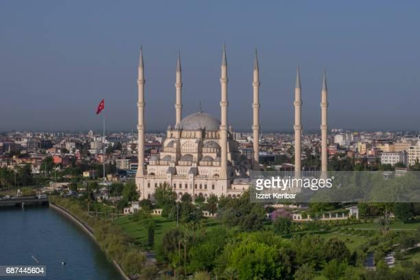 Sabanci Mosque  and Seyhan river, Adana Turkey