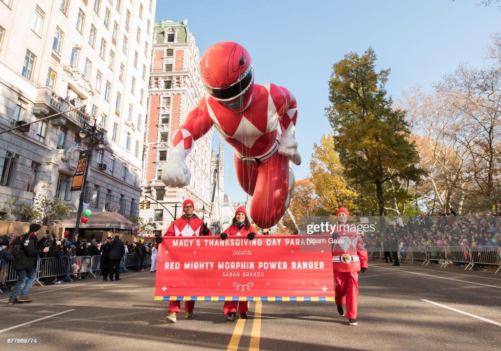 Saban's Mighty Morphin Power Ranger Balloon at the 91st Annual Macy's Thanksgiving Parade : News Photo