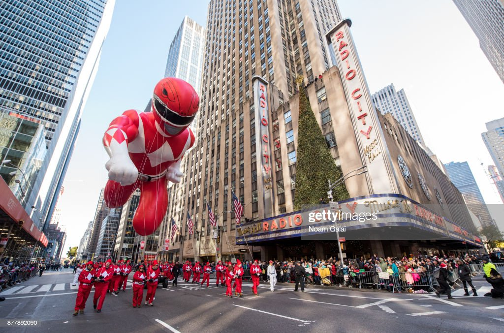 Saban's Mighty Morphin Power Ranger Balloon at the 91st Macys Thanksgiving Day Parade on November 23, 2017 in New York City.