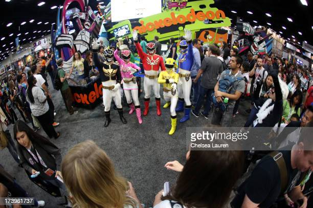 Saban's Power Rangers Megaforce make a MEGA impression at the opening of San Diego ComicCon International 2013 at San Diego Convention Center on July...