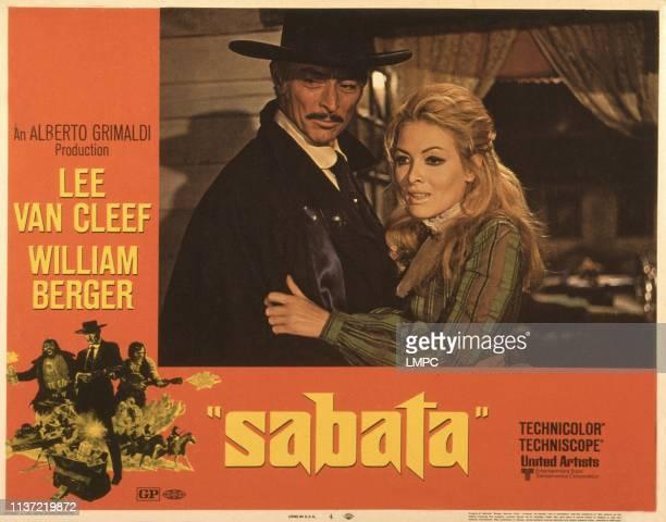 Sabata, , US lobbycard, from left: Lee Van Cleef, Linda Veras, 1969.
