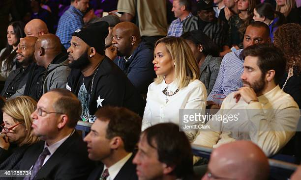C Sabathia Amber Sabathia and Jake Gyllenhaal attend 2015 Throne Boxing Fight Night at The Theater at Madison Square Garden on January 9 2015 in New...