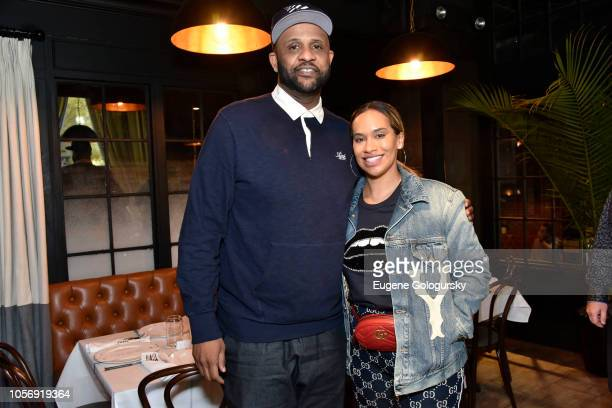 Sabathia Amber Sabathia attend the Amber And CC Sabathia Cheer On Team 52 Marathon With Haute Living Residences by Armani Casa And Brooklyn Chophouse...