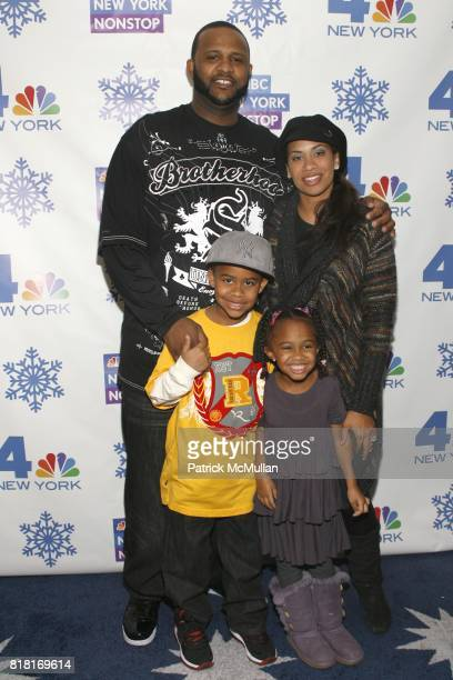 CC Sabathia Amber Sabathia Carson Sabathia and Jaden Sabathia attend 2010 Rockefeller Center Christmas Tree Lighting Party at Rockefeller Center on...
