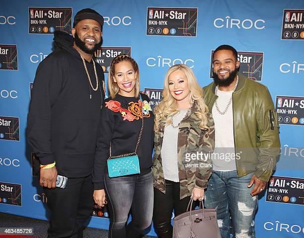 C Sabathia Amber Sabathia Chanel Fielder and Prince Fielder attends NBA AllStar Saturday Night Powered By CIROC Vodka at Barclays Center on February...