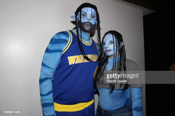 Sabathia and Amber Sabathia attend LaLa Anthony Lenny S Halloween Party at Vandal on October 31 2018 in New York City