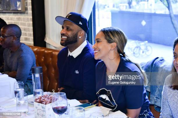 Sabathia and Amber Sabathia attend the Amber And CC Sabathia Cheer On Team 52 Marathon With Haute Living Residences by Armani Casa And Brooklyn...