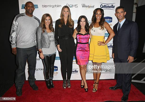 CC Sabathia Denise Albert Stephanie Winston Wolkoff Melissa Musen Gerstein Alexis Stoudemire and Jorge Posada pose backstage at Strut The Fashionable...