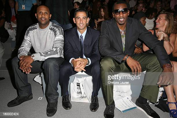 CC Sabathia Jorge Posada and Amare Stoudemire attend Strut The Fashionable Mom Show during MercedesBenz Fashion Week Spring 2014 at Lincoln Center...