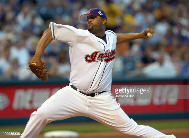 CC Sabathia of the Cleveland Indians pitches against the Chicago White Sox during their game Thursday July 22 in Cleveland The Indians were defeated...