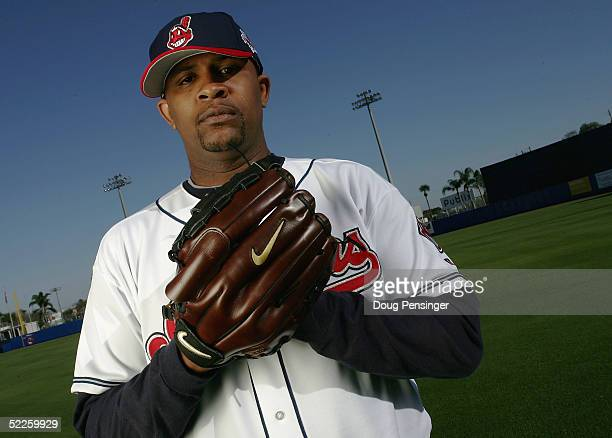 Sabathia of the Cleveland Indians poses for a photo day session during spring training at Chain of Lakes Park on March 1, 2005 in Winter Haven,...