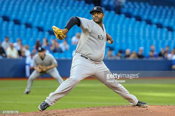 Sabathia of the New York Yankees pitches during the game between the Toronto Blue Jays and the New York Yankees at the Rogers Centre May 6, 2015