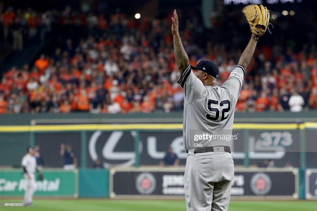 League Championship Series - New York Yankees v Houston Astros - Game Seven : News Photo