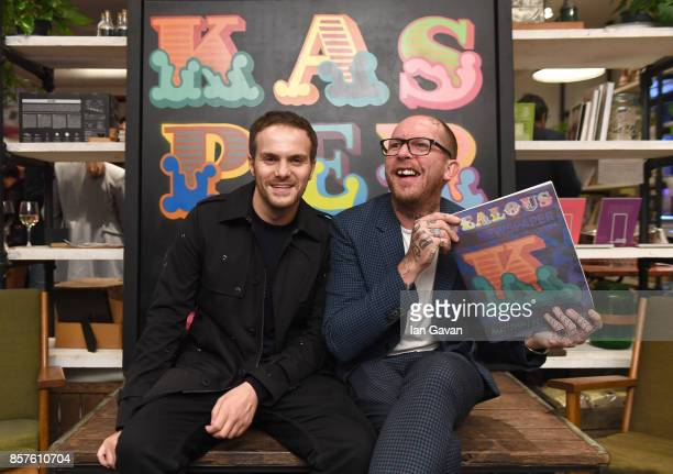 """Sabato De Sarno and Ben Eine attend the launch of the ad campaign film """"Back To Work"""", sealing the artistic collaboration between Kaspersky Lab and..."""