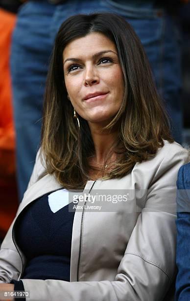Sabia Boulahrouz, wife of Dutch footballer Khalid Boulahrouz looks on prior tothe UEFA EURO 2008 Group C match between Netherlands and Romania at...