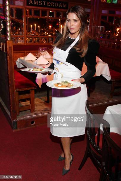 Sabia Boulharouz during the Palazzo by Cornelia Poletto charity event on February 7, 2019 in Hamburg, Germany.