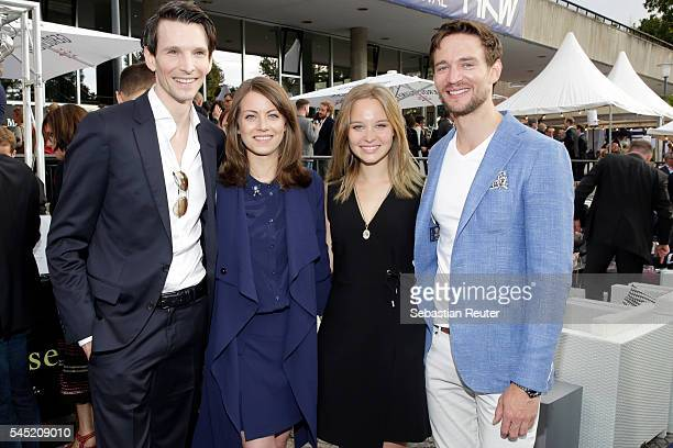 Sabin Tambrea Alice Dwyer Sonja Gerhardt and August Wittgenstein attend the summerparty of Produzentenallianz on July 5 2016 in Berlin Germany