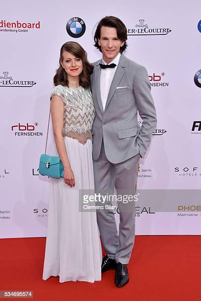 Sabin Tambrea and Alice Dwyer attend the Lola German Film Award on May 27 2016 in Berlin Germany