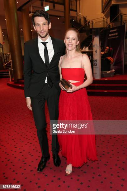 Sabin Tambrea and Susanne Wuest during the premiere of 'Der Mann aus dem Eis' at Cinemaxx on November 20 2017 in Munich Germany