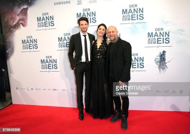 Sabin Tambrea and Violetta Schurawlow and Juergen Vogel during the premiere of 'Der Mann aus dem Eis' at Cinemaxx on November 20 2017 in Munich...
