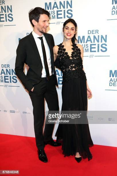 Sabin Tambrea and Violetta Schurawlow during the premiere of 'Der Mann aus dem Eis' at Cinemaxx on November 20 2017 in Munich Germany