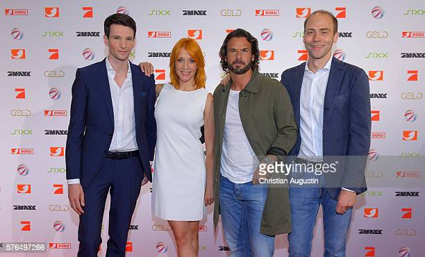 Sabin Tambrea, Annika Ernst, Stephan Luca and Kaspar Pflueger attend the photo call for the 2016 programme presentation of TV broadcasters...