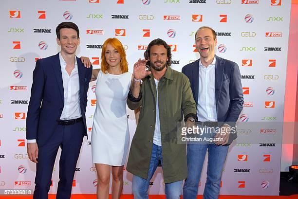 Sabin Tambrea, Annika Ernst, Stephan Luca and Kaspar Pflueger the photo call for the 2016 programme presentation of TV broadcasters ProSiebenSat1...