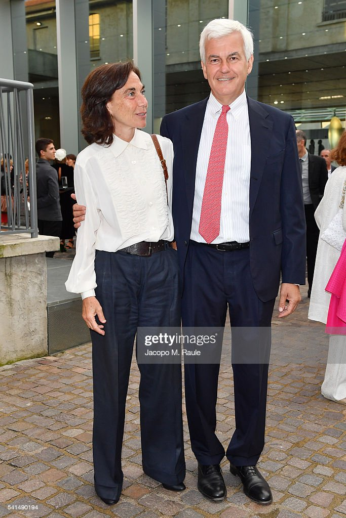 Miuccia Prada And Patrizio Bertelli Host A Private Dinner At Fondazione Prada