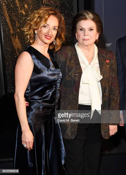 Sabina Fatkullina and Valentina Tereshkova attend the Artpoint Foundation gala screening of 'The Legend About Valentina' a specially commissioned...