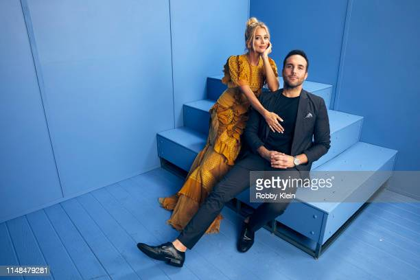 Sabina Gadecki and Tyler Rich poses for a portrait during the 2019 CMT Music Awards at Bridgestone Arena on June 5 2019 in Nashville Tennessee