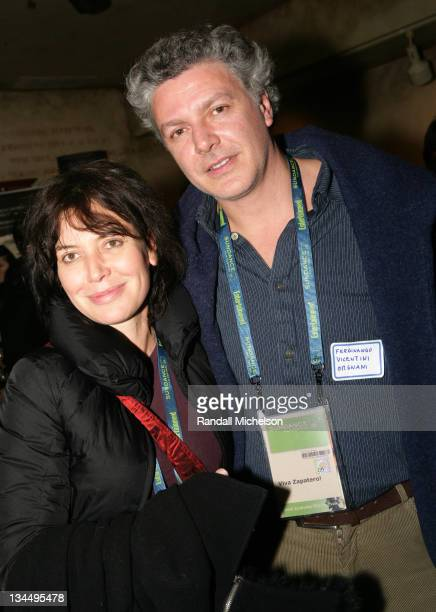 Sabina Guzzanti and Fernando Orniani during 2006 Sundance Film Festival UCLA at Sundance Reception at Terigo in Park City Utah United States