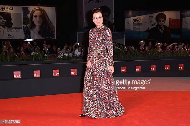 Sabina Guzzanti attends 'La Trattativa' Premiere during the 71st Venice Film Festival on September 3 2014 in Venice Italy