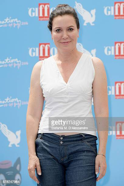 Sabina Guzzanti attends the Giffoni Film Festival photocall on July 21 2016 in Giffoni Valle Piana Italy