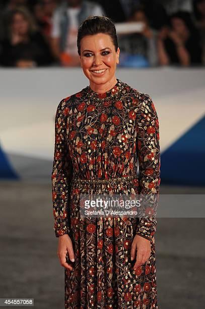 Sabina Guzzanti attends the 'La Trattativa' Premiere during the 71st Venice Film Festival on September 3 2014 in Venice Italy