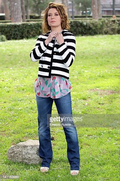 Sabina Guzzanti attends the 'Unduetrestella' photocall at Casa del Cinema on March 12 2012 in Rome Italy
