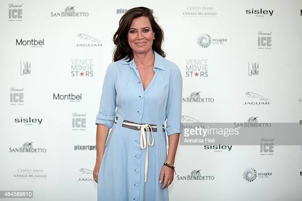 Sabina Guzzanti attends Venice Movie Star Lounge on September 3 2014 in Venice Italy