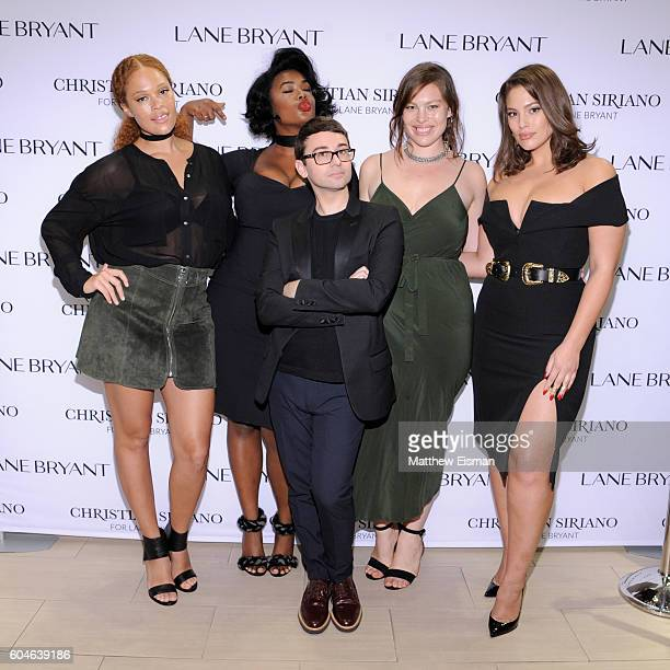 Sabina Karlsson Precious Lee Christian Siriano Georgia Pratt and Ashley Graham attend Christian Siriano x Lane Bryant PA on September 13 2016 in New...