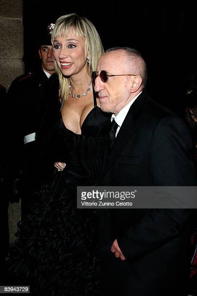 Sabina Negri and Carlo Delle Piane attend the Teatro Alla Scala 2008 / 2009 Season Inauguration on December 7, 2008 in MIlan, Italy.