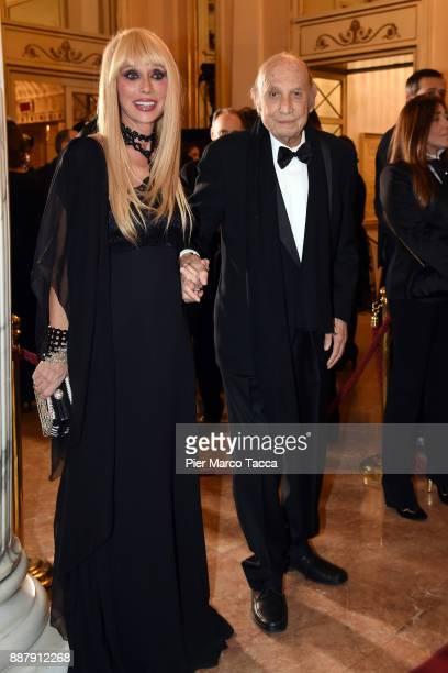 Sabina Negri and Francesco Alberni attend the Prima Alla Scala at Teatro Alla Scala on December 7 2017 in Milan Italy