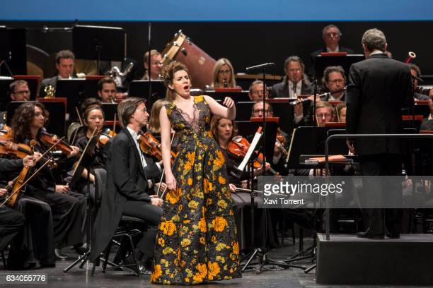 Sabina Purtolas performs on stage during the Gran Teatre del Liceu 20th Anniversary Celebrationon February 6 2017 in Barcelona Spain