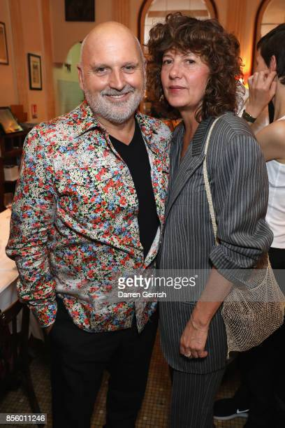 Sabina Schreder and Sam McKnight attend a dinner in Paris to celebrate Another Magazine A/W17 hosted by Vivienne Westwood, Andreas Kronthaler,...