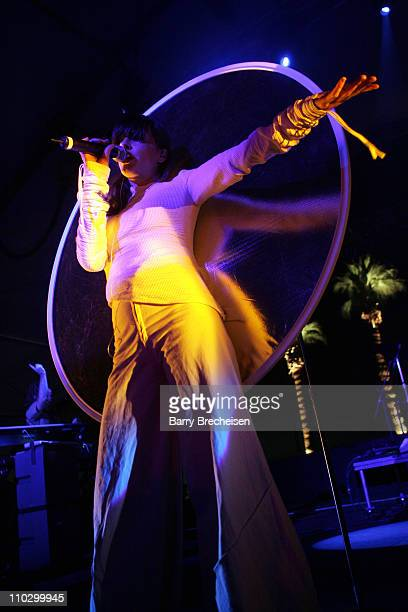 Sabina Sciubba of Brazilian Girls during 2007 Coachella Valley Music and Arts Festival Day 1 at Empire Polo Field in Indio California United States